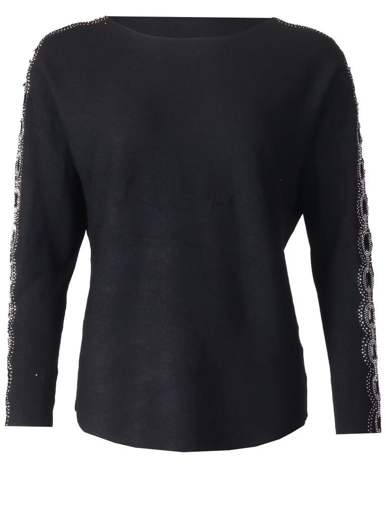 Detailed Slv Top - Black