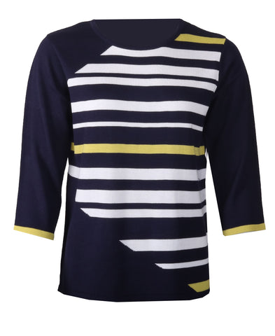 Striped Knitwear - Navy Combo