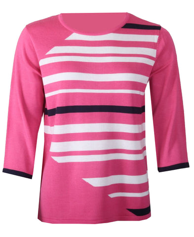 Striped Knitwear - Fushia Combo
