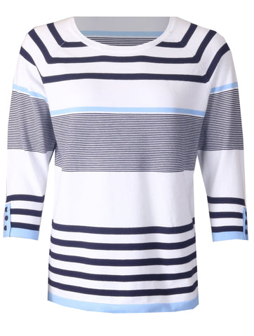 Stripe Knitwear - Cornflower
