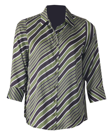 Stripe Blouse - Olive