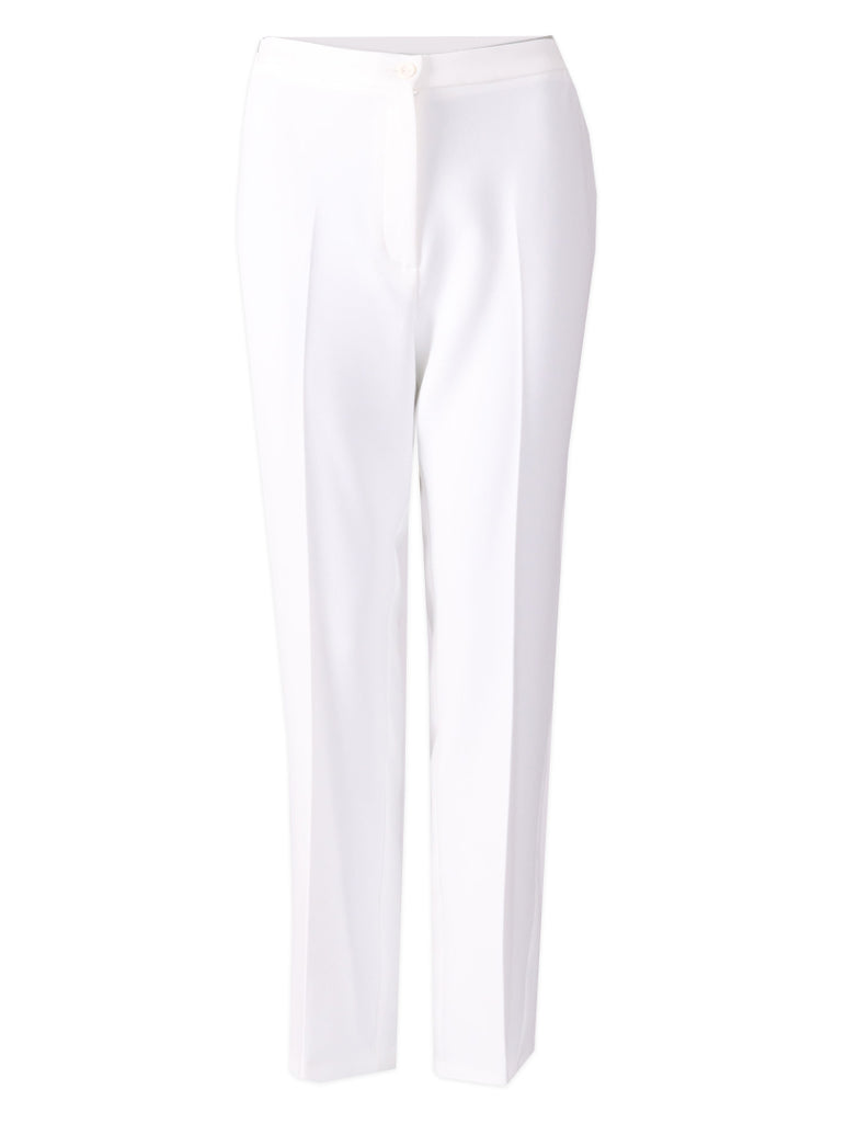 Short Side Elasticated Trousers - Ivory