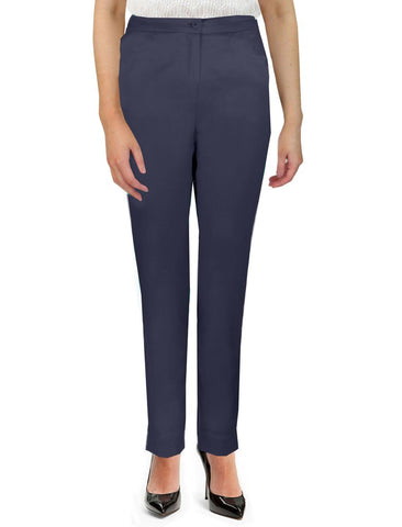 Navy Side Elasticated Trousers