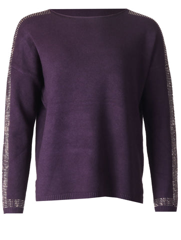 Detailed Sleeve Top - Purple