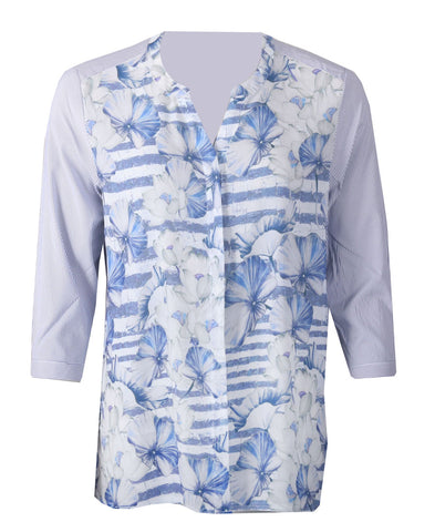 Printed Shirt - Blue Combo