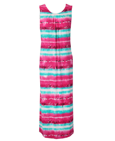 St Lucia Maxi - Pink/Turquoise