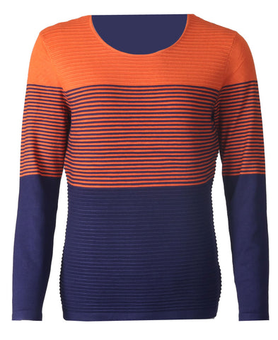 Ottoman Jumper - Orange/Navy