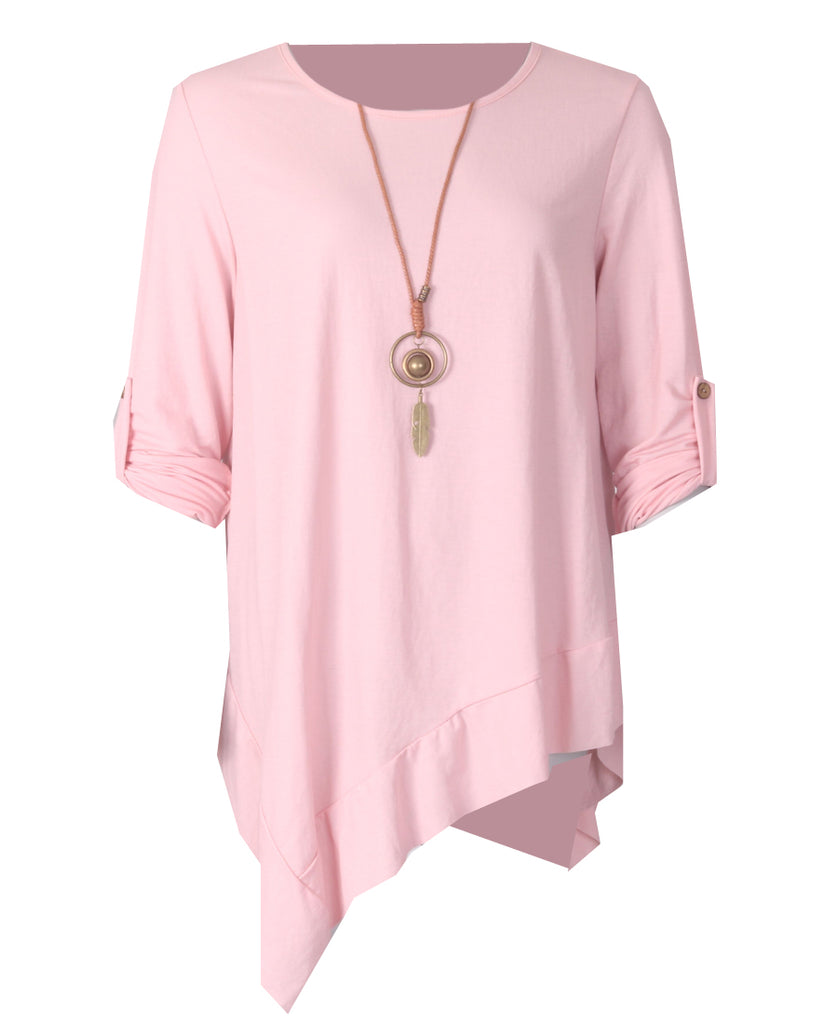 Necklace Tunic - Dusty Pink