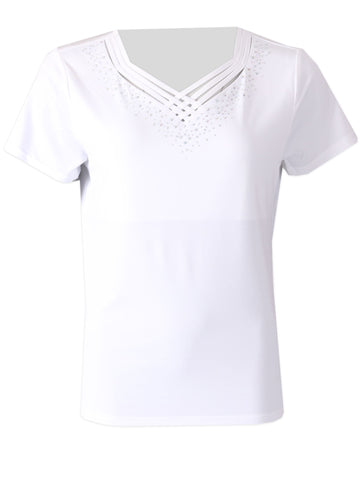 Detailed Top - White