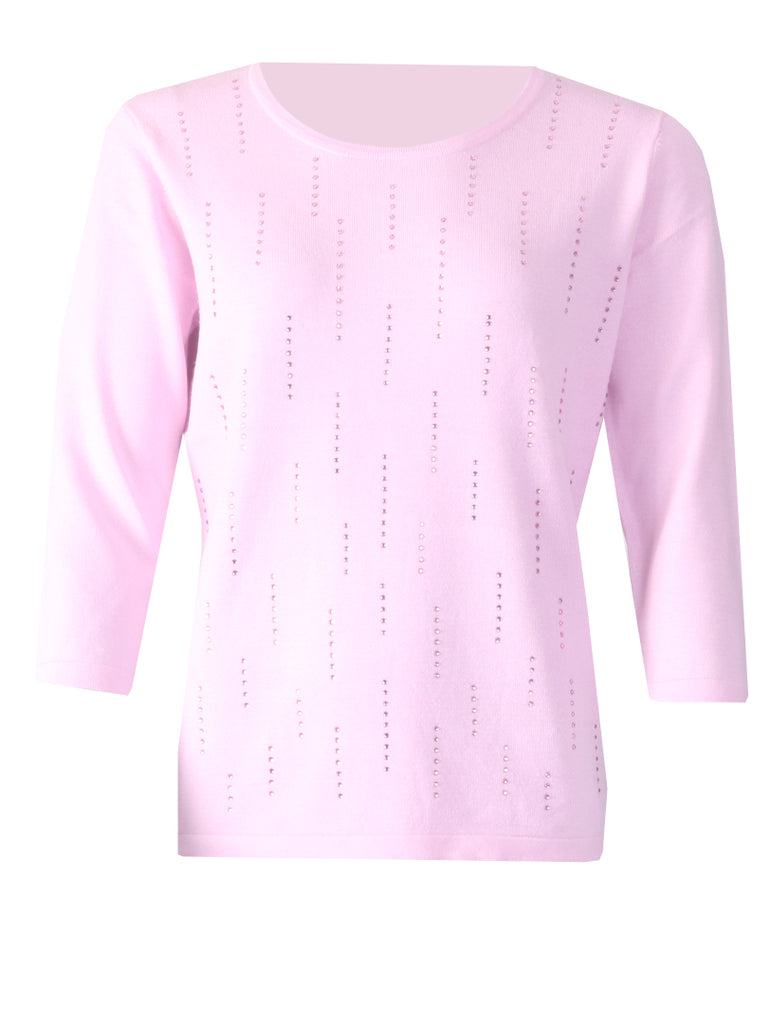 Stone Pullover - Light Pink