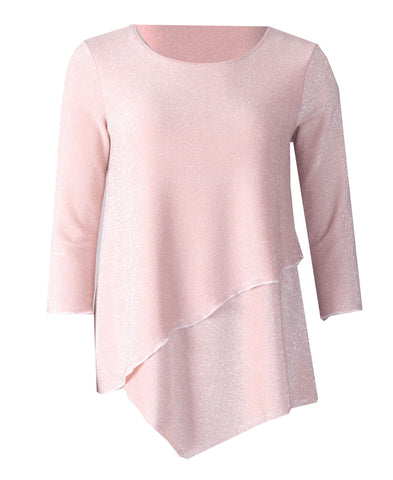 Sparkle Layered Top - Pink