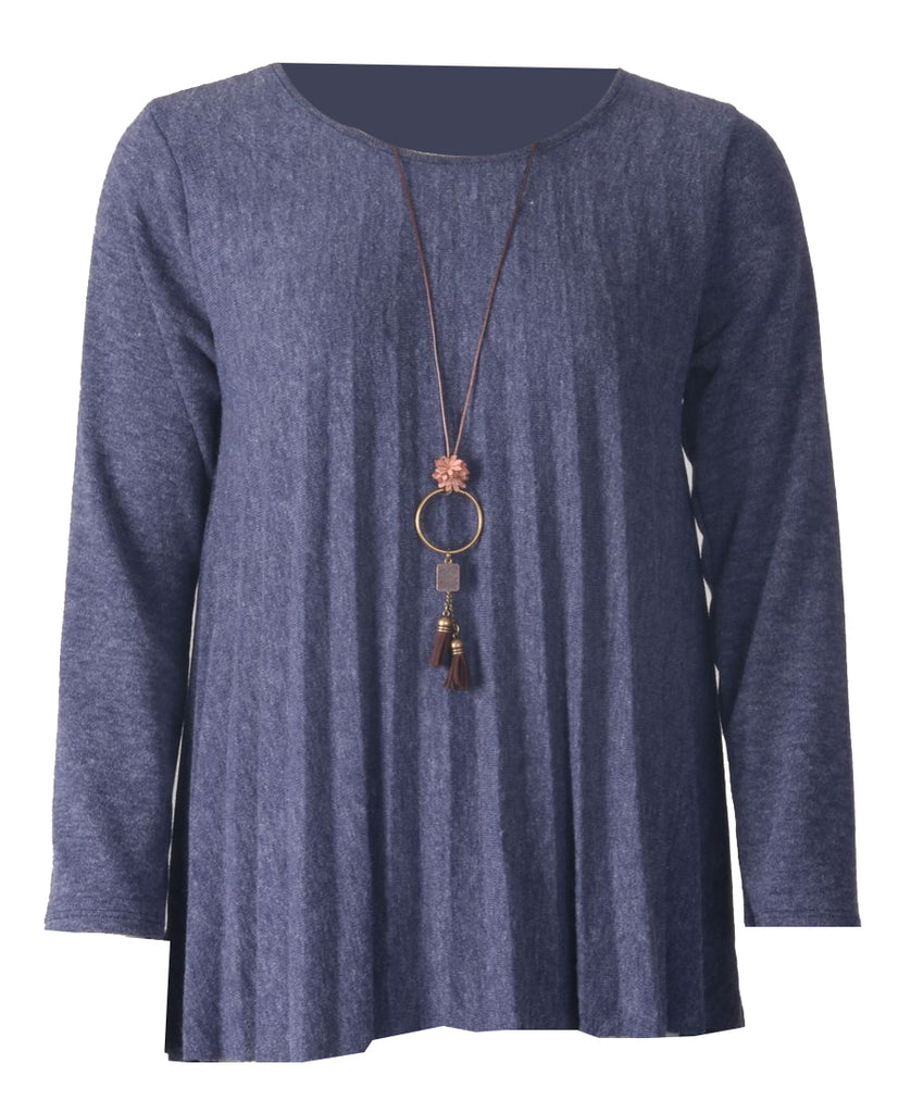 Necklace Top - Navy