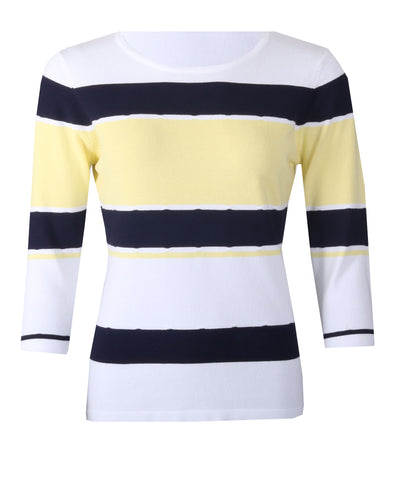 Striped Jumper - White/Yellow