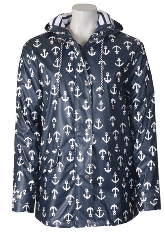 Anchor Raincoat - Navy