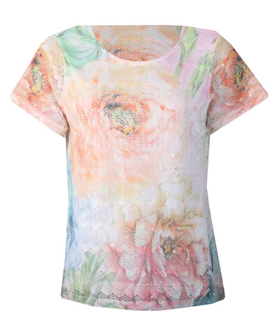 Mesh Rose Top - Multi Combo