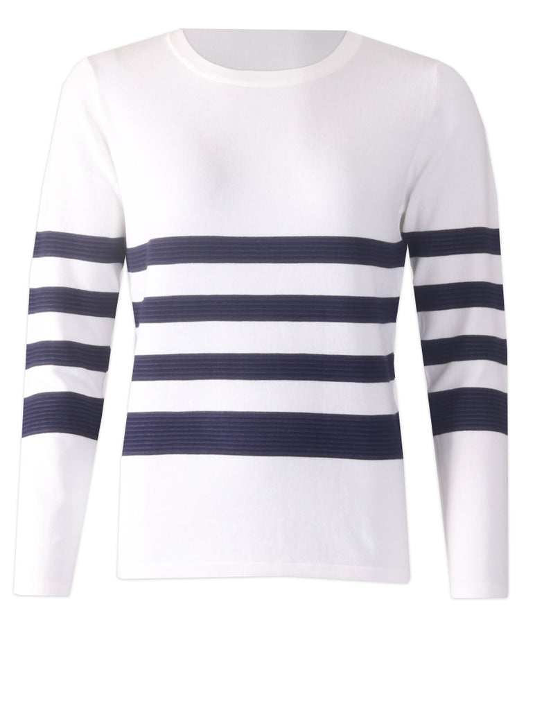 Knitwear - White/Navy