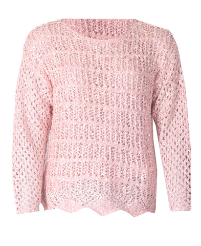 Crotchet Top - Pink