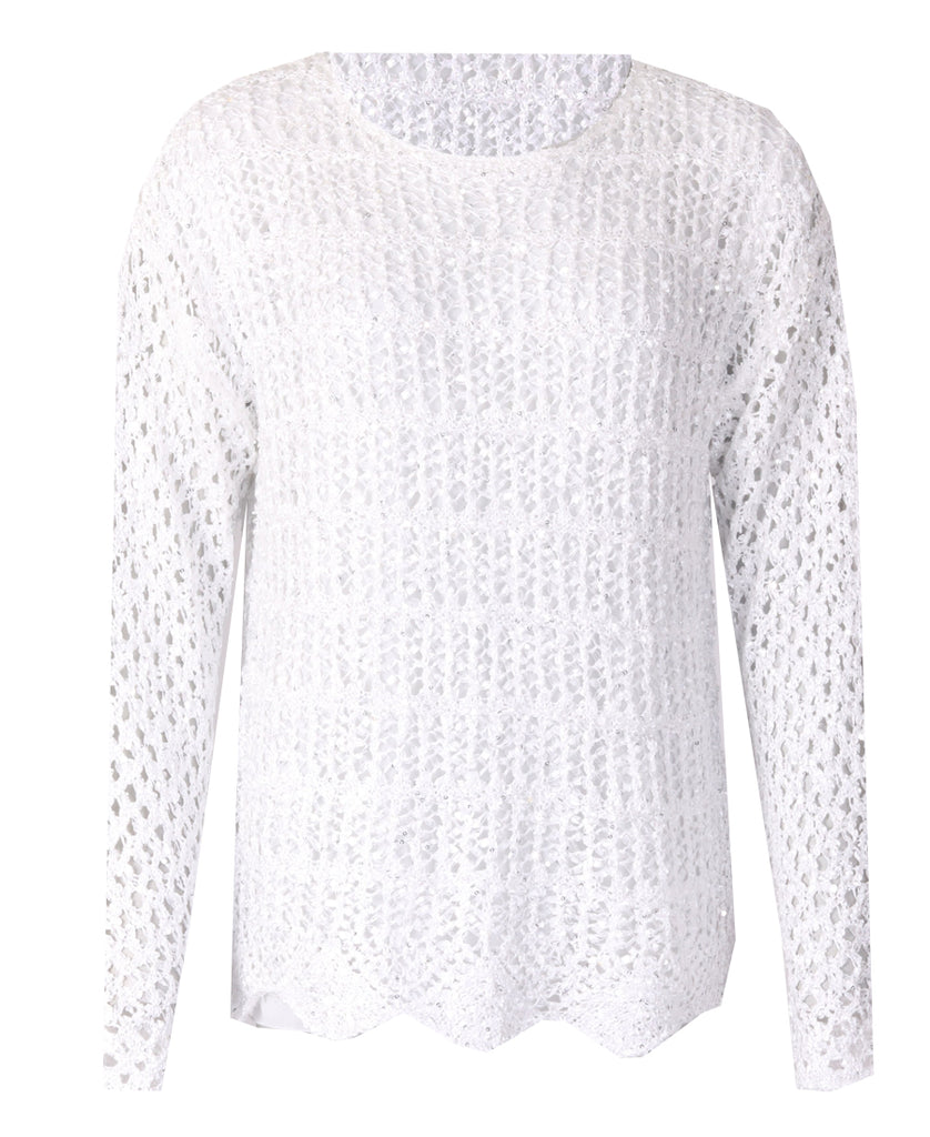 Crotchet Top - Ivory