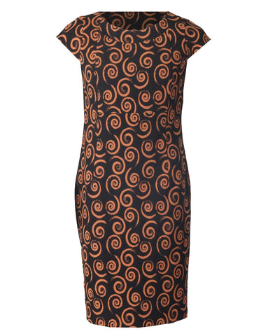 Button Dress - Ochre