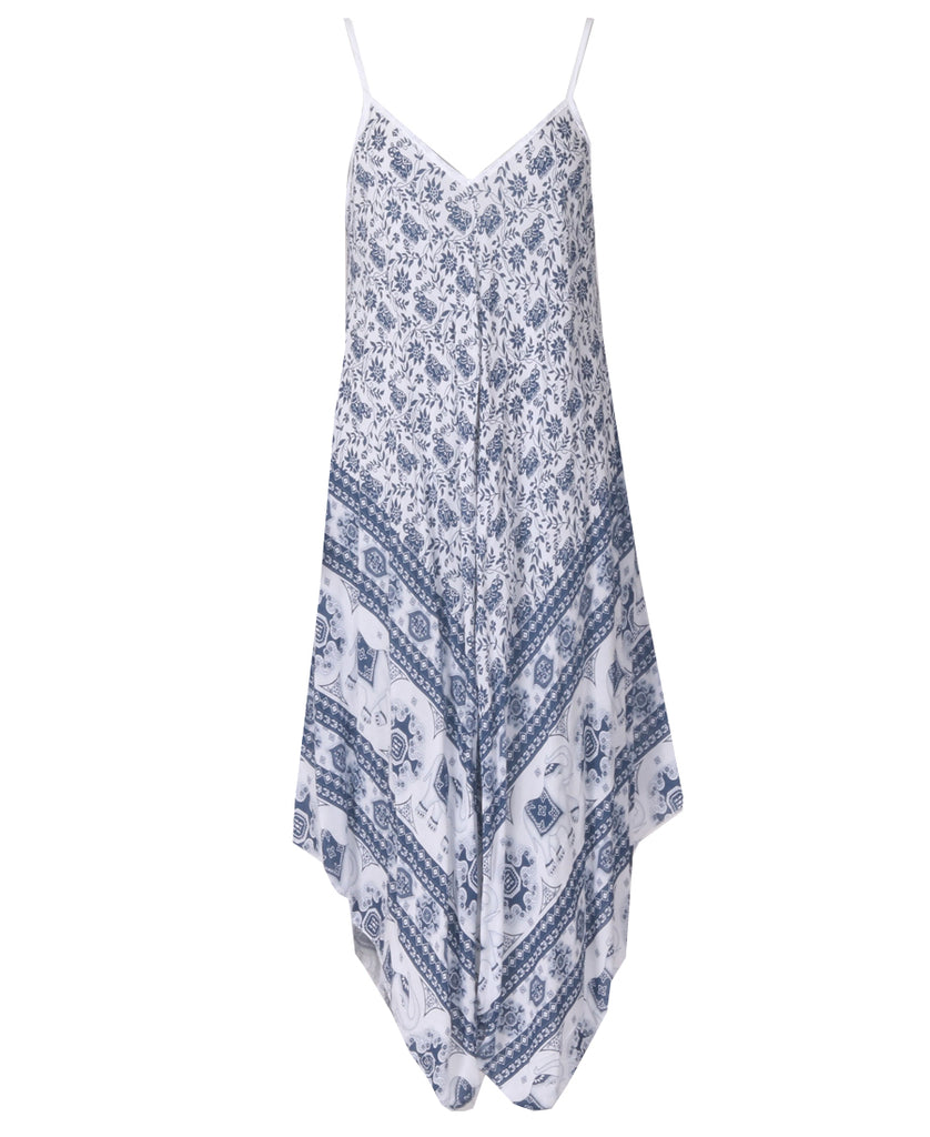 Printed Dress - White