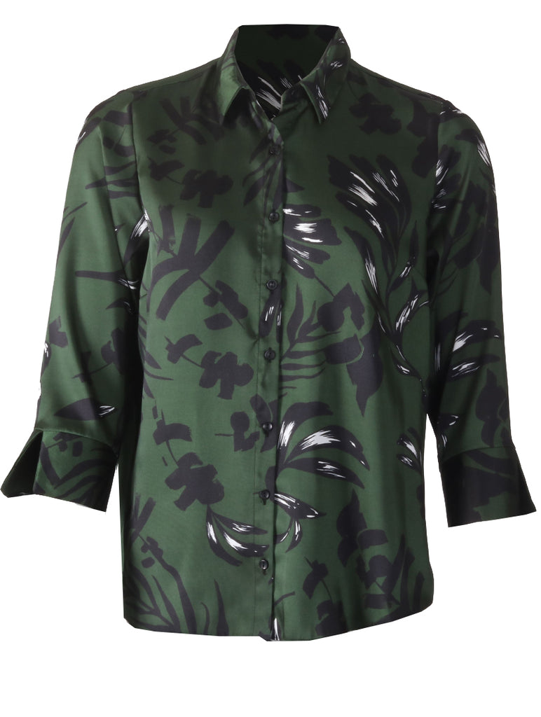 Split Sleeve Shirt - Dark Olive