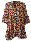 Leopard Smock Dress - Beige