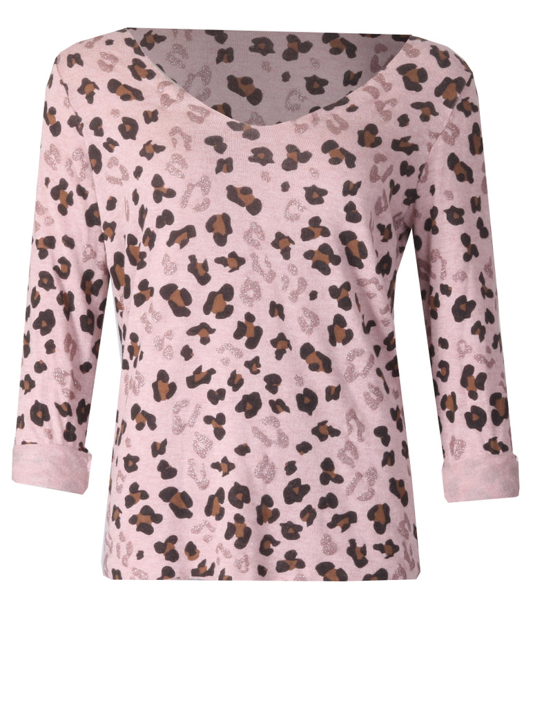 Turn Back Sleeve Top - Dusty Pink
