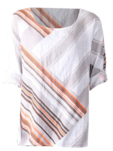 Multi Stripe Top - White
