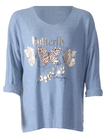 Butterfly Top - Denim