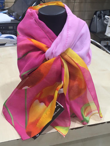 Multi Coloured Scarf - Pink