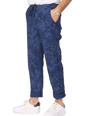 Tie Dye Magic Trousers - Navy