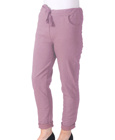 Magic Cargo Trousers - Dark Pink