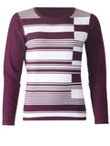 Stripe Knitwear - Wine/White