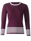 Knitwear - Wine/White