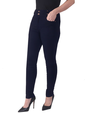 "29"" High Waist Super Stretch Magic Jeans - Navy"