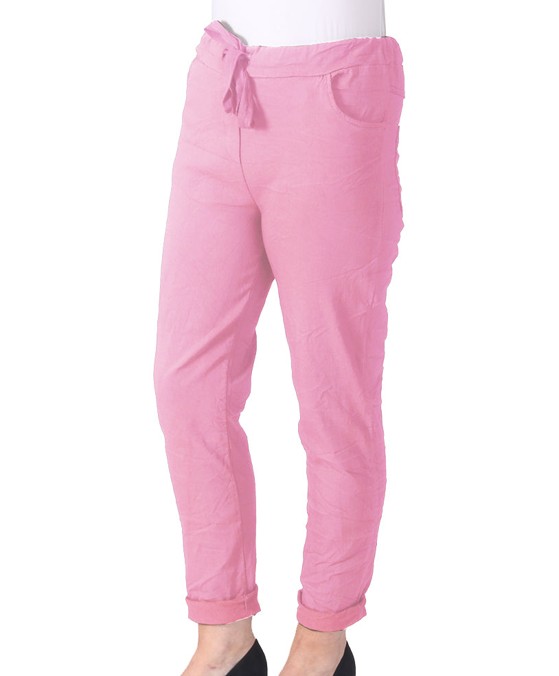 Magic Cargo Trousers - Bright Pink