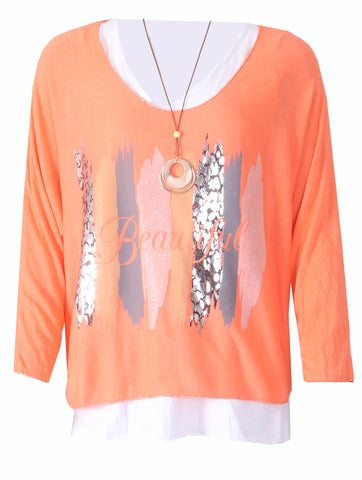 Beautiful 2 Pc Top - New Orange