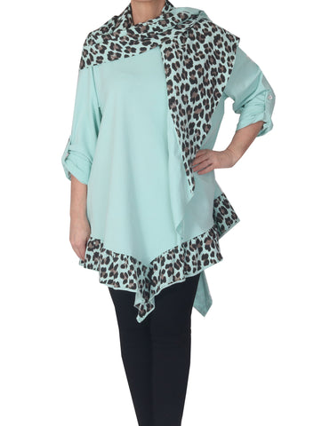 Tunic with Scarf - Mint