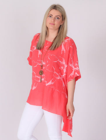 Angled Top - Coral