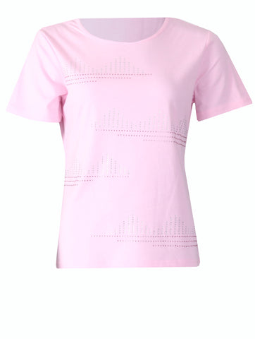 T-shirt with Stones - Light Pink