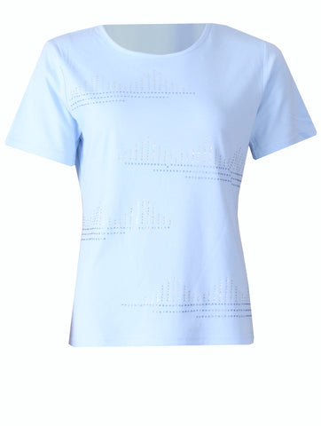 T-shirt with Stones - Light Blue