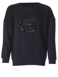 Sequin Lips Sweater - Black