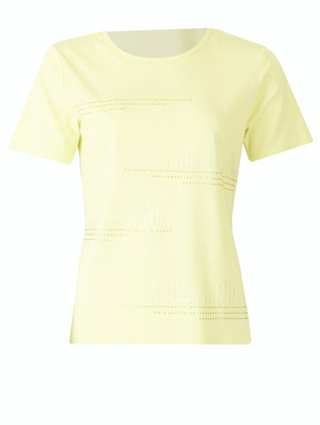 T-shirt with Stones - Yellow