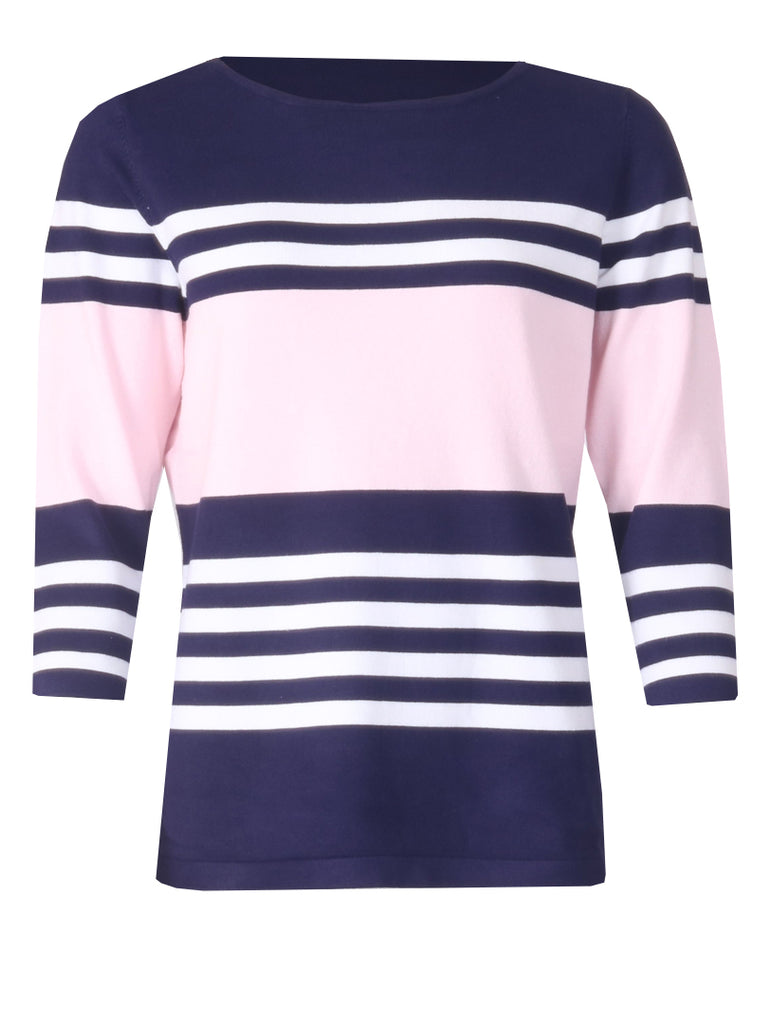 Stripe Knitwear - Soft Pink