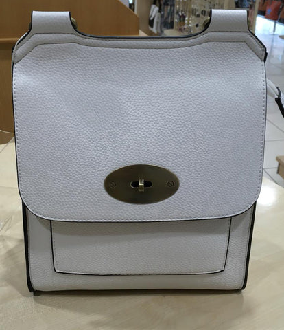 White Crossbody Satchel