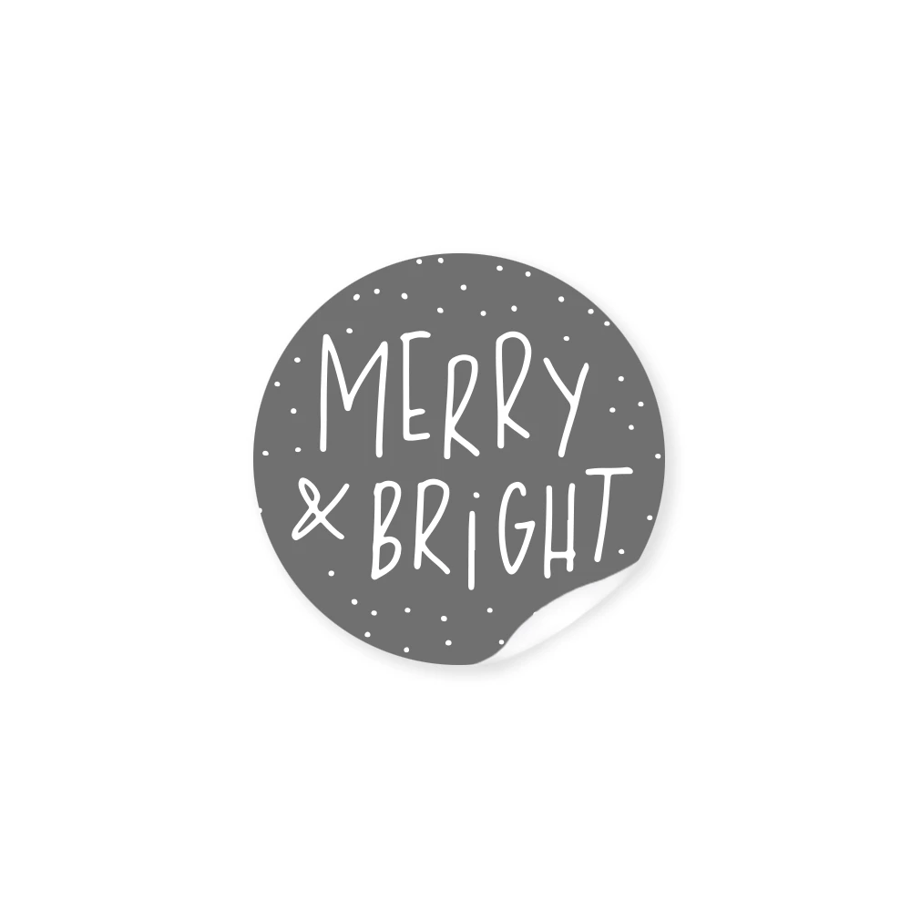 Sticker merry&bright