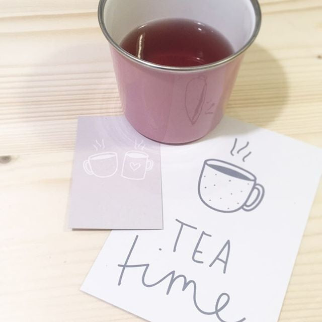 Postkarte Tea time