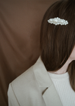 ODETTE PEARL HAIR CLIP SILVER