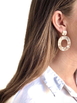 STELLA EARRINGS SAND