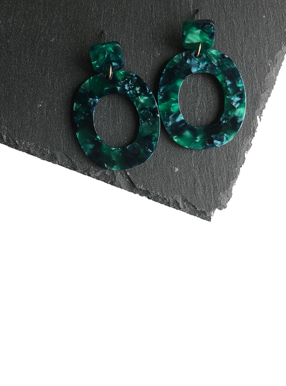 STELLA EARRINGS GREEN